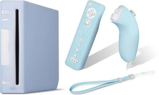 PACK Silikon Skin Schutz-Hülle Case für Wii Konsole Wiimote Controller Nunchuk