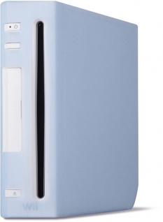 Speedlink Silikon Skin Schutz-Hülle blau für Nintendo Wii Konsole Tasche Cover