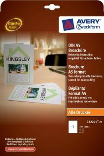 Avery Zweckform 25x Broschure A5 weiss Druck Werbe-Flyer Blätter Expose Drucker