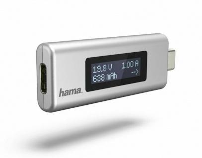 Hama USB-C Strom-Anzeige Leistungs-Messer Messgerät Spannungs-Prüfer Tester