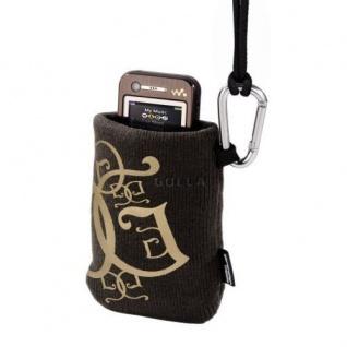 Golla Music Bag MP3 Player Tasche Köchertasche Cavalier Braun Karabiner Handy