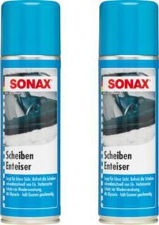 2x Set Sonax Scheiben-Enteiser sofort Klarsicht KFZ Windschutzscheiben Spray