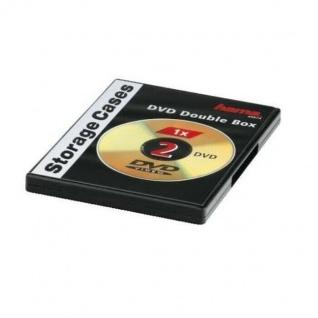 Hama DVD Doppel-Leerhülle Case Slim schwarz Aufbewahrung für CD DVD Blu-Ray