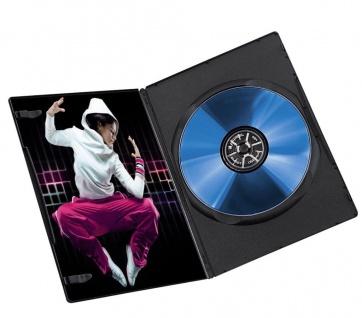 Hama 10x PACK Slim DVD-Hülle 1er 1-Fach Leer-Hüllen Box für CD DVD Blu-Ray Disc