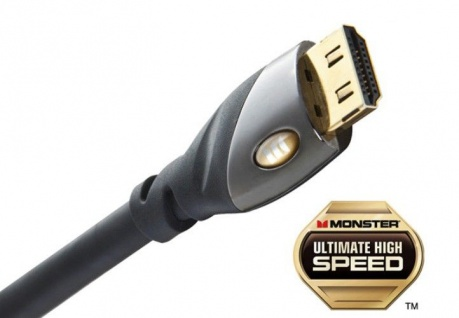 Monster Cable HQ HDMI-Kabel 1m Ultra High-Speed 100Hz Ethernet UHD Full-HD TV 3D