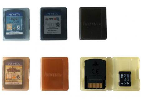Hama Game Case Set 6x Spiele-Hüllen Tasche Spiel Box für Sony PS Vita PSV Slim