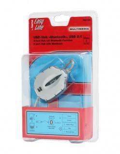 Hama USB 2.0 Hub 3-Port mit Bluetooth Adapter Transmitter für Handy PC Laptop