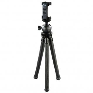Hama Flexibles Mini-Stativ + Adapter Tripod Biegbare Beine für GoPro Hero etc