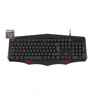 Speedlink LAMIA USB Gaming Tastatur QWERTY LED Britisches Gamer Keyboard-Layout