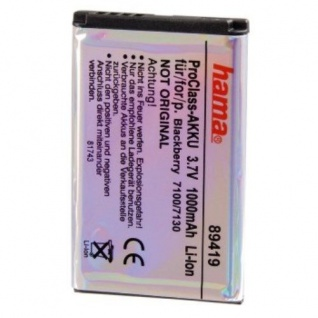 Hama Akku Batterie für Blackberry 7100 7105 7130 8700 8703 8705 8707 9300 C-S2
