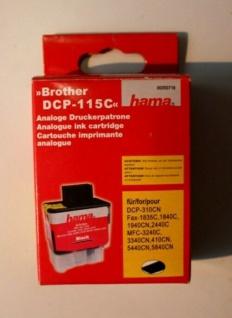 Hama Analoge Druckerpatrone für Brother DCP-115C Black/Schwarz/Noir 25 ml