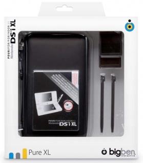 Bigben Zubehör-Set Pure Hard-Case Tasche Spiele-Hülle für Nintendo 3DS XL DSi XL