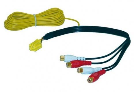AIV Car HiFi Line-Out Adapter Kabel Mini-ISO 20-polig 4 Kanal Cinch Auto-Radio