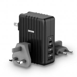 Zendure 4-Port 45W QC USB-Ladegerät USB-C 30W Netz-Lader 4-Fach Lade-Station