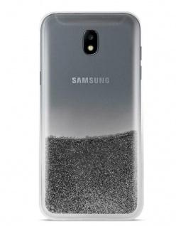 Puro Cover Sand Liquid Glitter Hard-Case Schutz-Hülle für Samsung Galaxy J5 2017