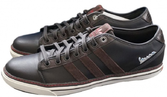 Adidas Originals Vespa GS Schuhe EUR 40, 5 UK 7 Herren Leder Low Sneaker Vintage