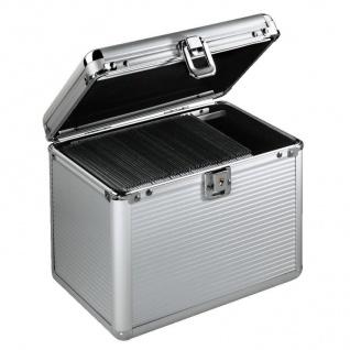 Hama CD DVD Koffer 120x CDs Silber DJ Case Aufbewahrungs-Box Alukoffer Alu-Kiste