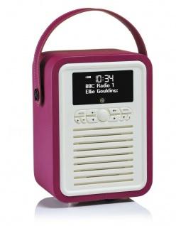 VQ Retro Mini Digital-Radio Lila DAB DAB+ FM Bluetooth Weckfunktion AUX Wecker