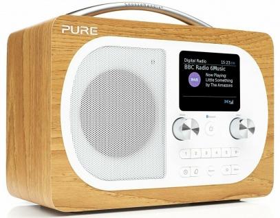 Pure Evoke H4 Digital-Radio DAB DAB+ UKW Küchen-Timer Bluetooth Display Wecker