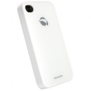 UVP39, 90? Krusell BIO Glas Cover Tasche weiß für Apple iPhone 4 4S Hard-Case Bag