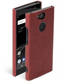 Krusell Cover Leder Hard-Case Schale Schutz-Hülle Tasche für Sony Xperia XA2