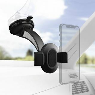 Hama Universal Klemm-Halterung Auto Windschutzscheibe Saugnapf für Smartphones