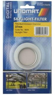 Unomat Skylight-Filter 37mm Sky-Filter 1A für Digital DSLR DSLM Foto Kamera etc.