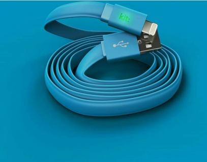 Kit FRESH Lightning-Kabel USB-Kabel 2m LED Ladekabel Datenkabel für Apple MFI