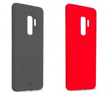 Puro ICON Cover Silikon Schutz-Hülle Hard-Case Tasche für Samsung Galaxy S9+