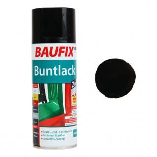 Baufix Lack-Spray Schwarz 400ml Sprüh-Dose Spray-Dose Sprüh-Lack Farb-Spray