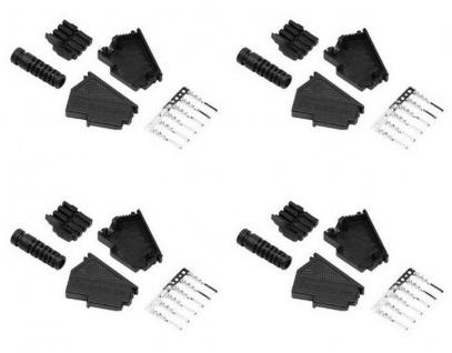 Hama 4x TAE-F TAE-Stecker 6-polig Bausatz Knickschutz TAE-F-Stecker Plug Telefon