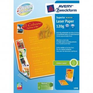 Avery Zweckform 200 Blatt A4 120g Superior Colour-Laser Papier weiß matt Drucker