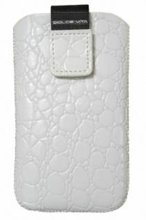 DOLCE VITA Croco Tasche Etui Case Schutz-Hülle für Apple iPhone 4S/4 3GS/3G etc.