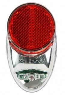 Profex LED Rück-Leuchte mit Standlicht + Halterung Fahrrad Dynamo Rück-Licht