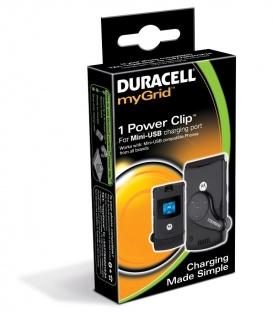 Duracell myGrid Power Sleeve Clip Adapter für Mini USB Anschluss Ladegerät