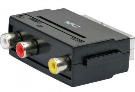 Schwaiger TV AV-Adapter IN Scart-Adapter / 3x Cinch / Composite Video Chinch
