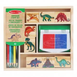 Stempelset Dinosaurier Holz Melissa & Doug Spielen Malen Kreativität für Kinder