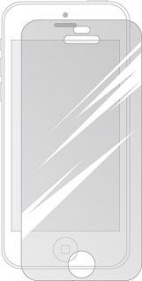 Cellux Displayschutzfolien für iPhone 5C transparent 3er Set Microfasertuch