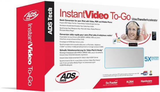 ADS USB Video Converter Video auf H.264 .mp4 für MP3 MP4 Player iPod Walkman PSP
