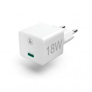 Hama Mini-Ladegerät USB-C 18W Schnell-Ladeadapter Netztteil für Handy Tablet