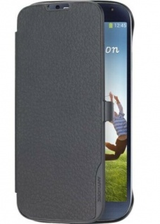 Anymode Folio Schwarz Case Schutz-Hülle Tasche Etui für Samsung Galaxy S4 i9500