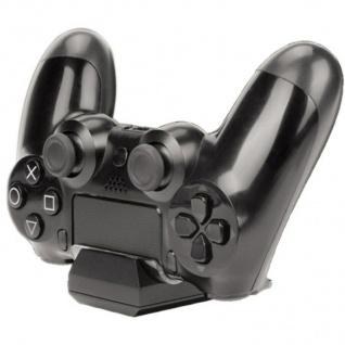 Hama USB Ladegerät Dock Lade-Station Docking für Sony PS4 Wireless Controller - Vorschau 2