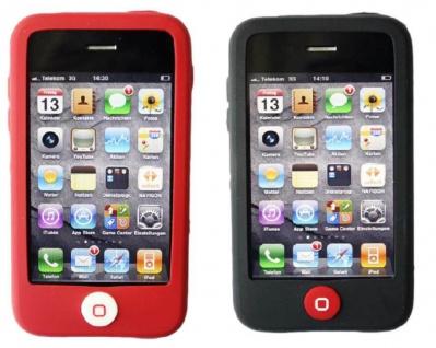 Hama PACK 2x Silikon Skin Hülle Tasche Cover Etui Bumper für Apple iPhone 3G 3GS