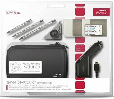 Speedlink 12in1 Starter-Kit Tasche Game-Case Kfz Ladekabel für New 3DS 3DS DSi