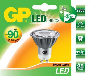 GP LED Strahler GU10 4W / 35W Warmweiß Lampe Glüh-Birne Leuchtmittel Reflektor