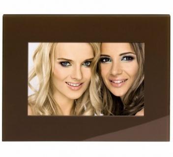 Hama Portraitrahmen Glas Braun 10x15cm Portrait Bilder-Rahmen Foto Bild Porträt