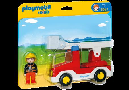 Playmobil 6967 Feuerwehrleiterfahrzeug Feuerwehrmann mit Fahrzeug und Leiter