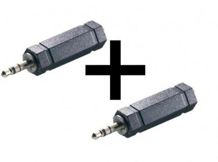 2x Set Vivanco Adapter Klinke Stereo 3, 5mm Stecker 6, 3mm Buchse Kupplung