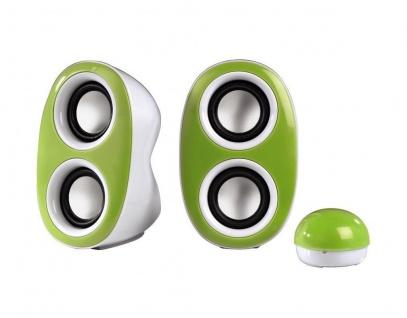 Hama Lautsprecher 2.0 Dispersion grün Speaker Multimedia Boxen für PC Notebook