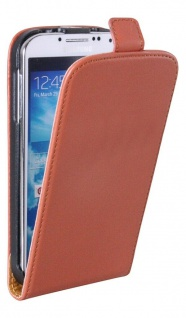 Patona Slim Flip Klapp-Tasche Schutz-Hülle Cover für Samsung Galaxy I9500 S4